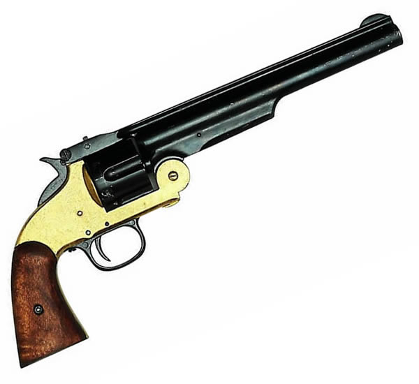 Six Shot revolver - Brass Trim