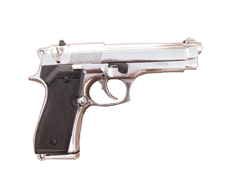 Beretta pistol 92 F.9 mm, parabellum - Nickled