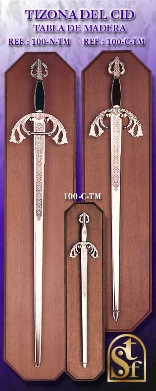 El Cid Tizona Sword with Woodboard
