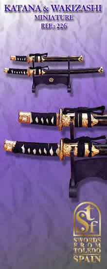 Miniature Katana and Wakizashi