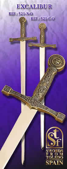 Sword Excalibur, golden