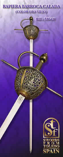 Barroque Rapier, old gold
