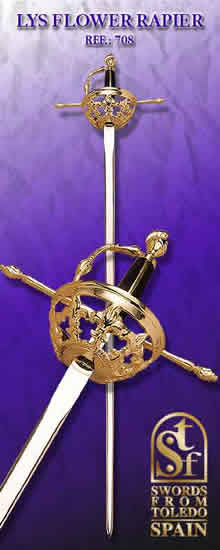 Lys Flower Rapier, Damascene