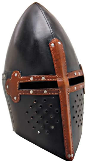 Leather Templar Helmet