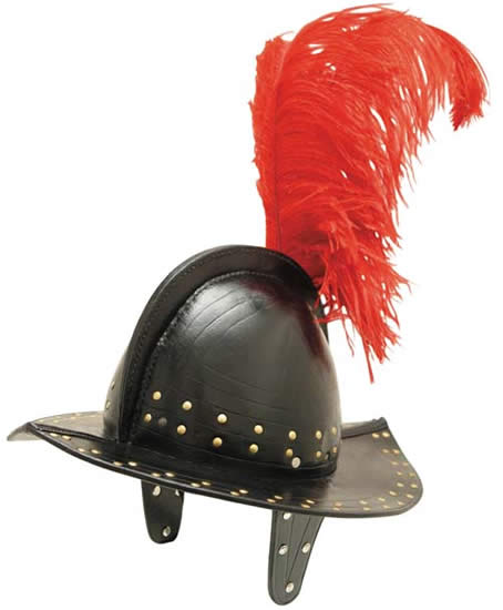 Leather Morrion Helmet