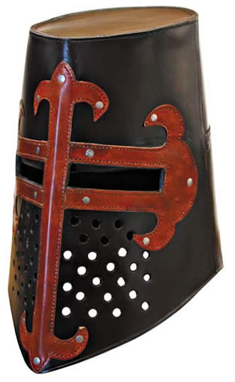 Leather Crusader Helmet